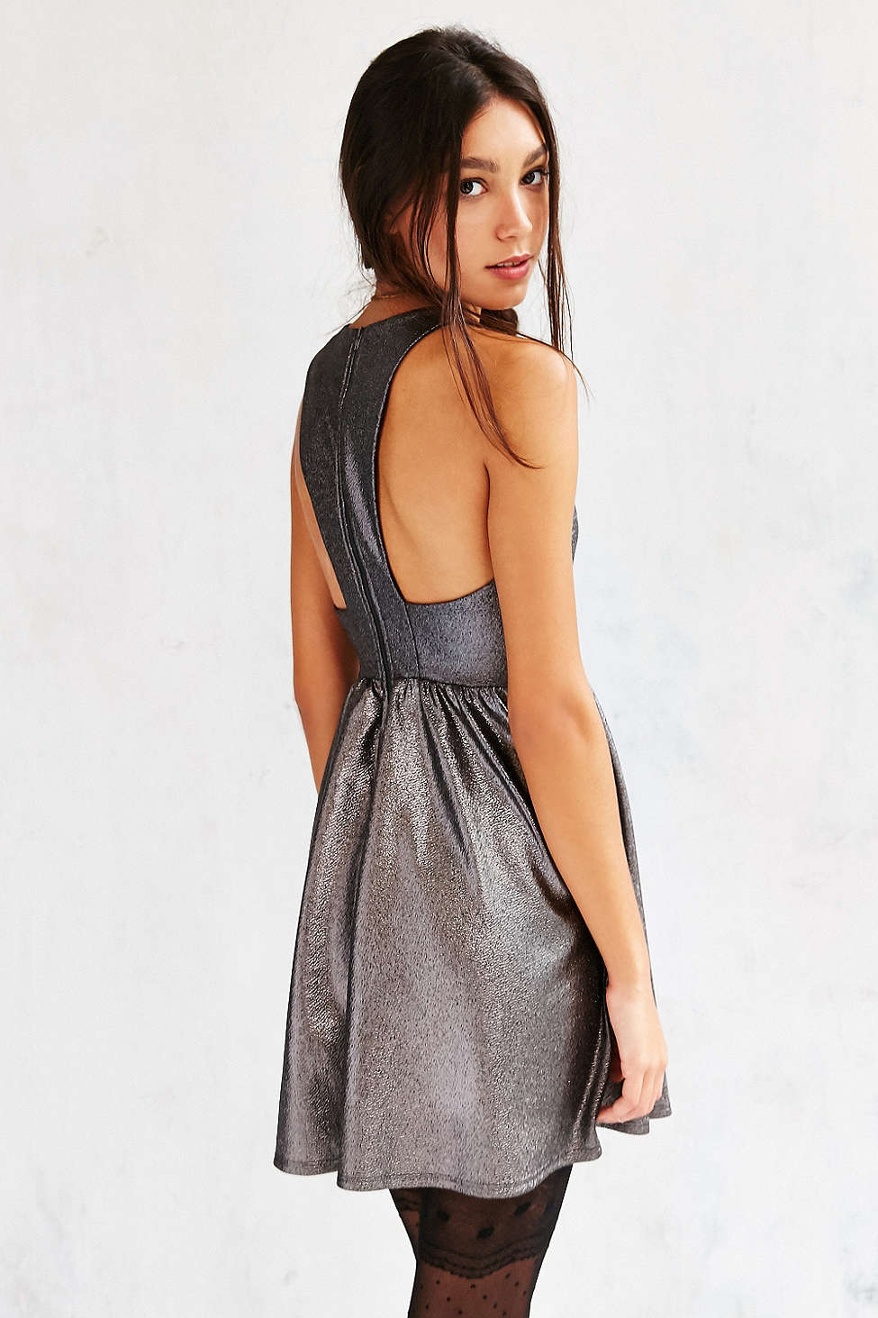 Urban Outfitters Shimmer Fit & Flare Dress