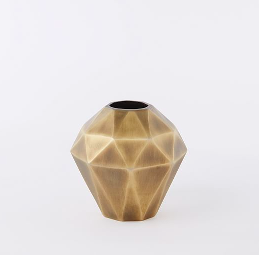 Faceted Metal Vase