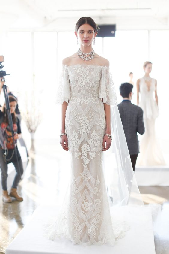 Marchesa via Bridal Musings