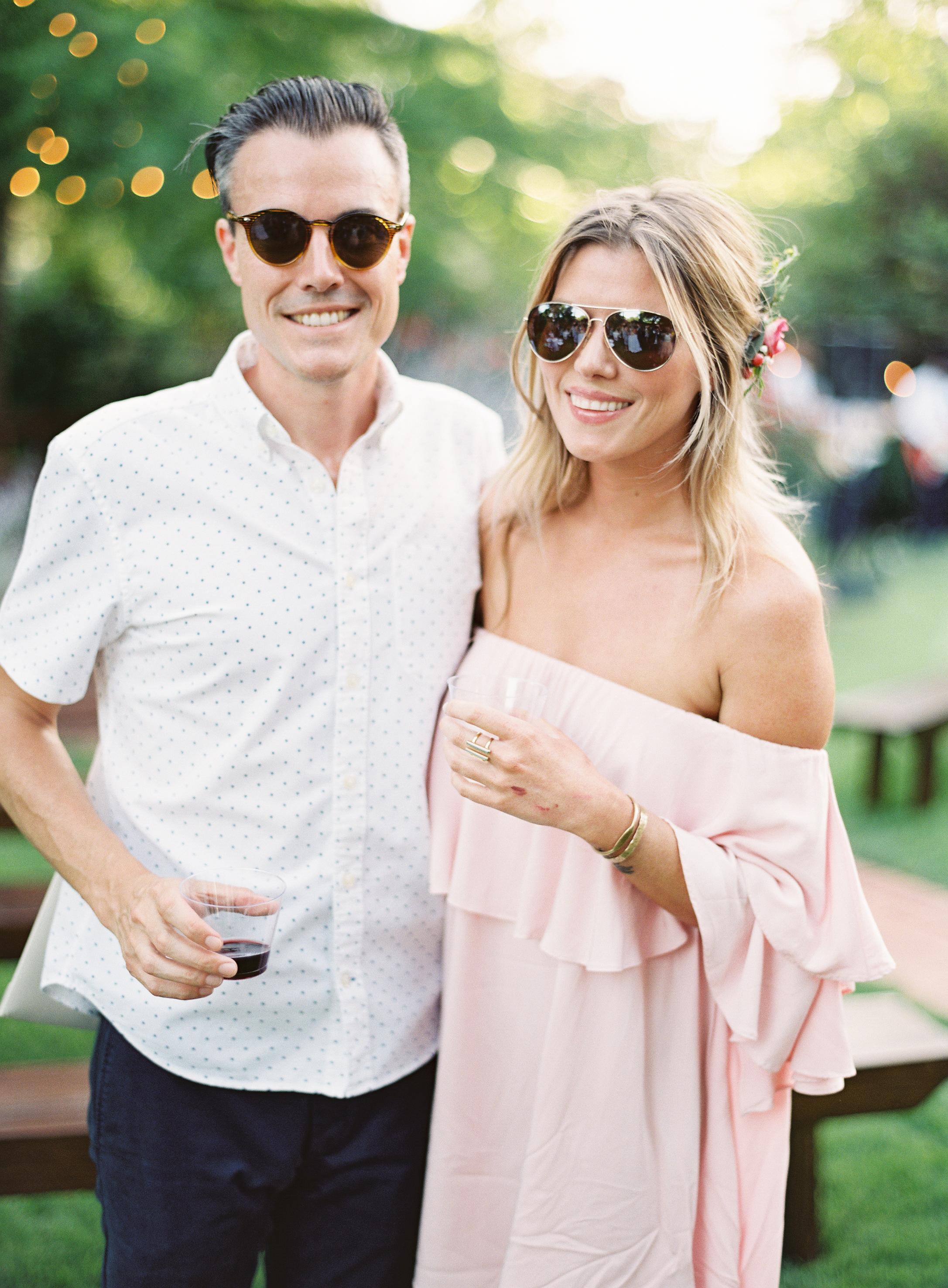 Stylish Backyard Wedding - Lindsey Brunk