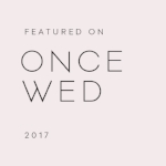 Featured on Once Wed - Lindsey Brunk