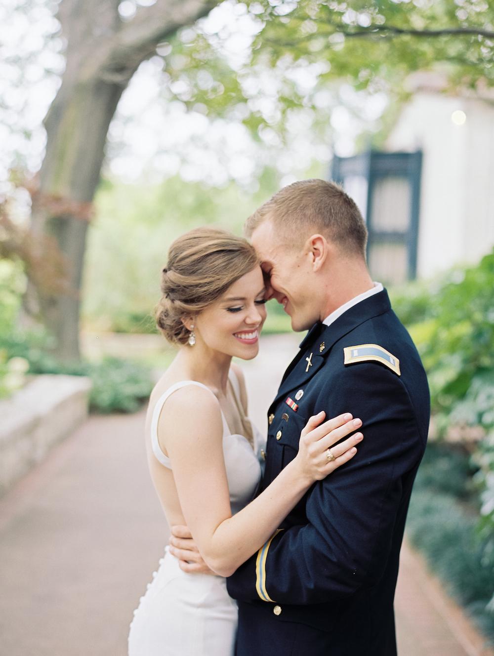 Military Garden Wedding - Lindsey Brunk