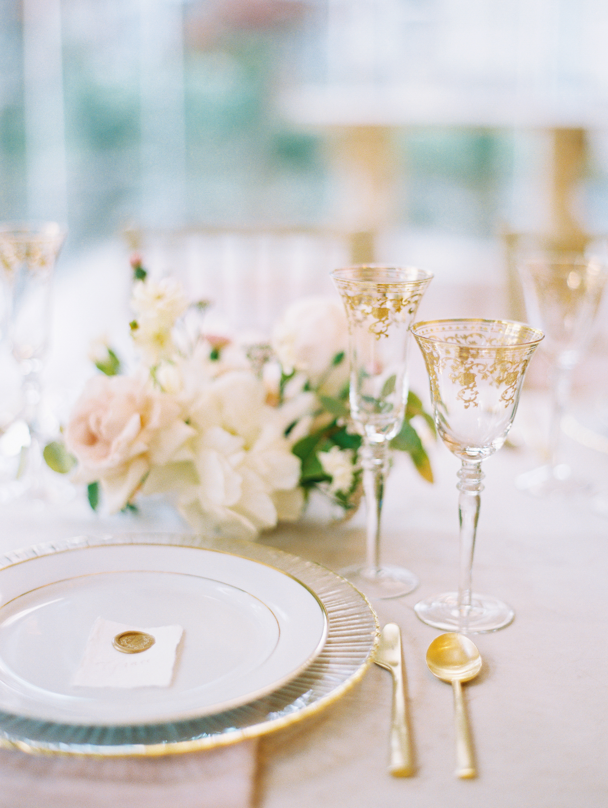 Gilded Spring Cream & Blush Wedding Inspiration - Lindsey Brunk