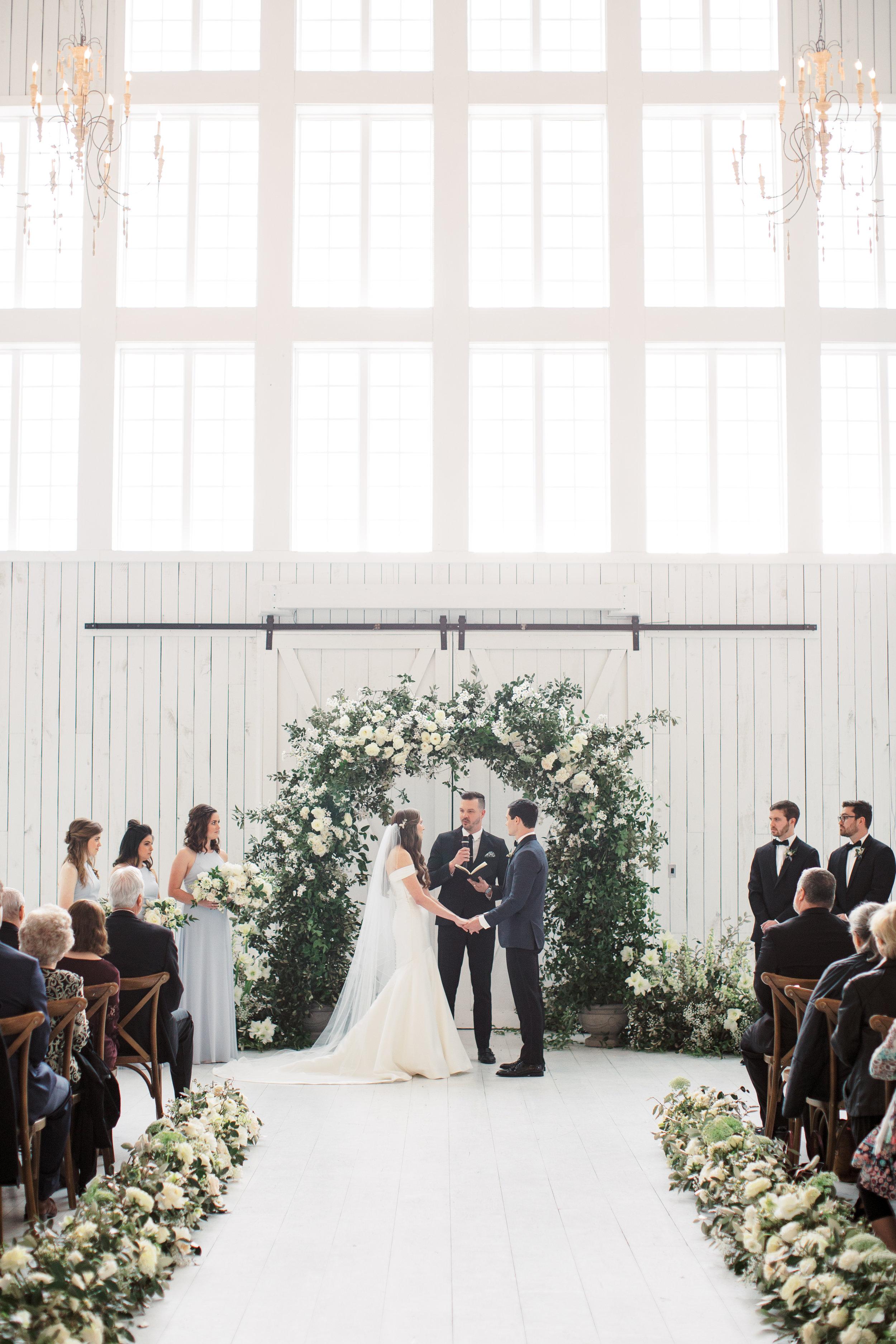 Elegant White Sparrow Wedding - Lindsey Brunk