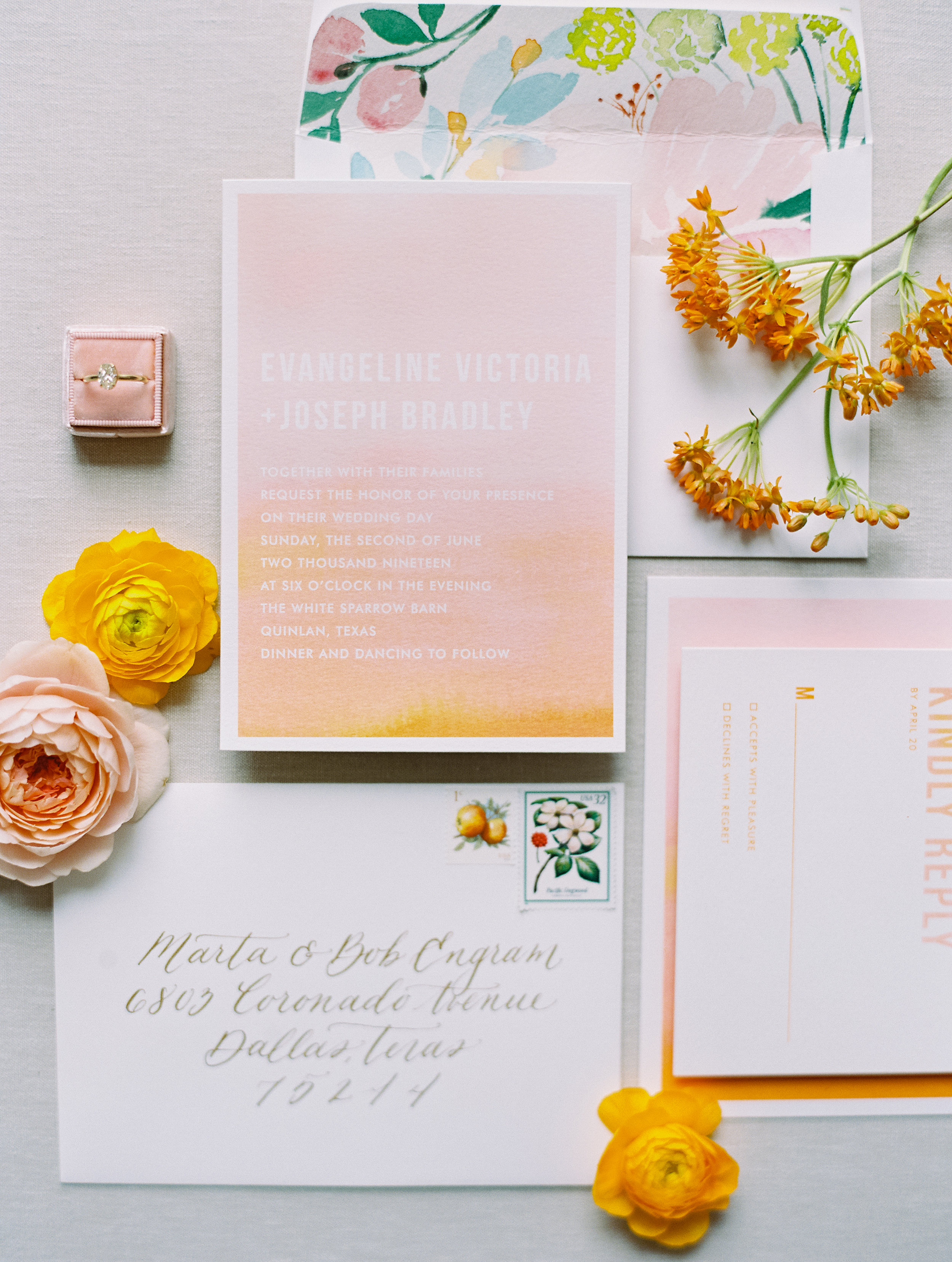 Joyful Summer Wedding Full of Color - Lindsey Brunk