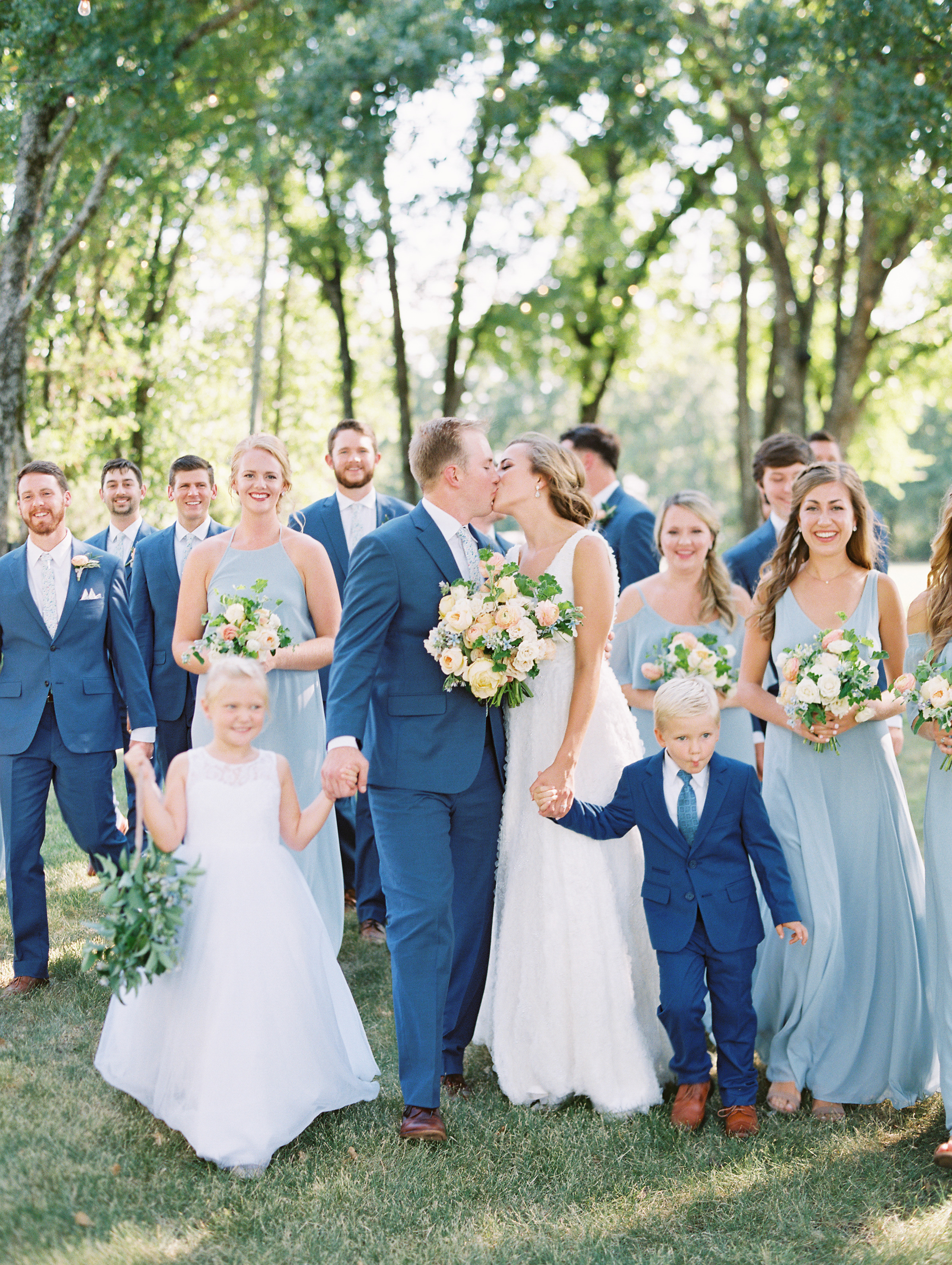 Summer Wedding in Shades of Blue - Lindsey Brunk