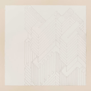Structure 8,  2013, graphite on watercolor paper, 22 x 22 inches