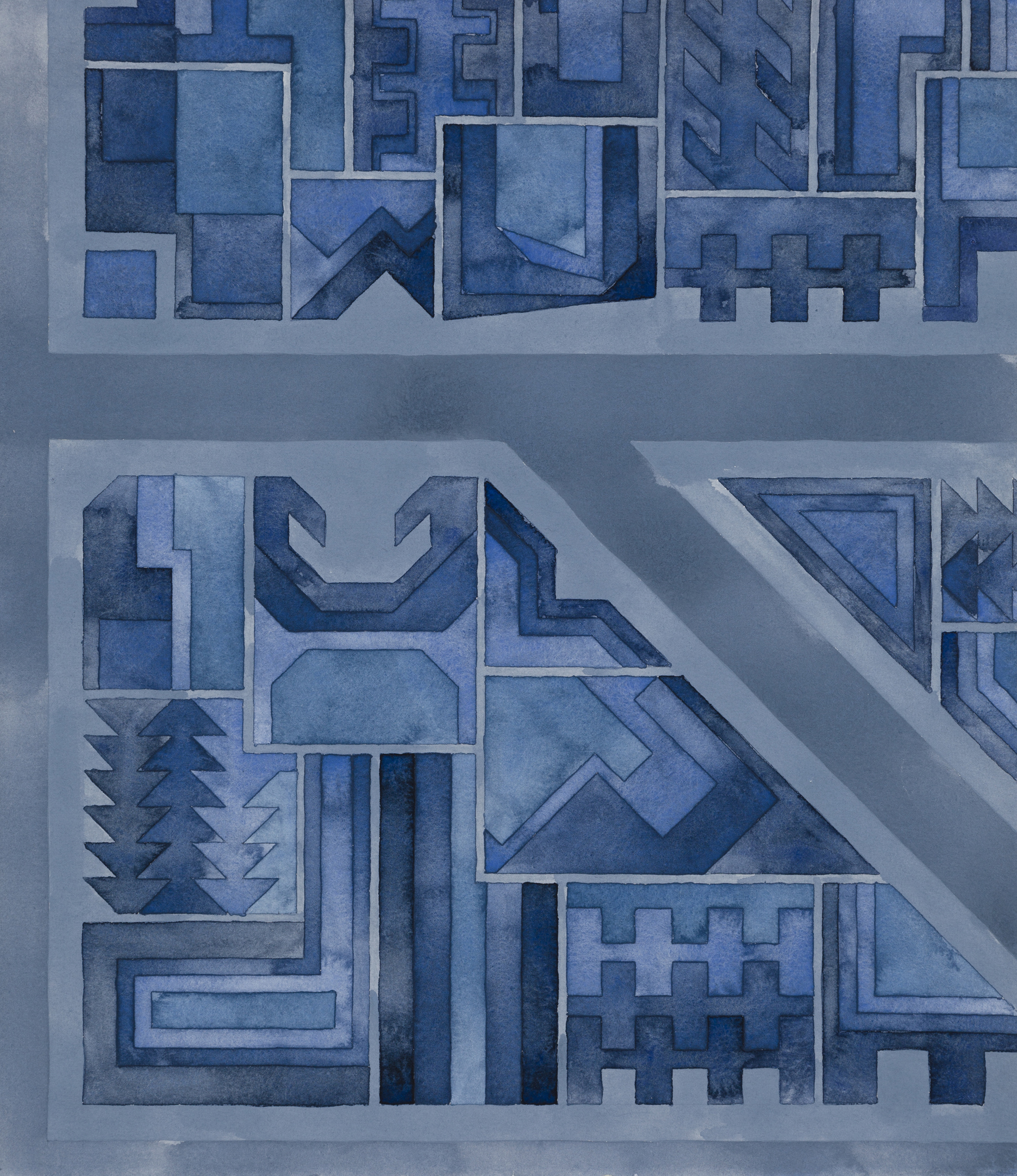 Cityscape 24, 2014  watercolor on watercolor paper  16.5 x 14.5 inches