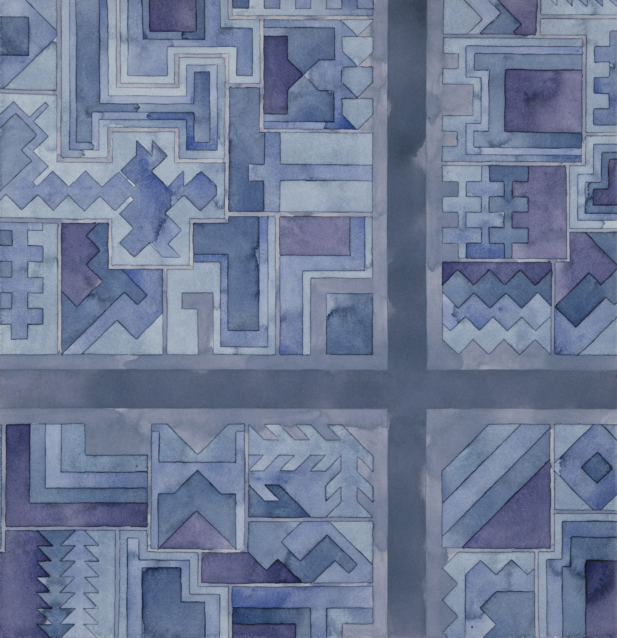 Cityscape 29 , 2014  watercolor on watercolor paper  20.75 x 20 inches