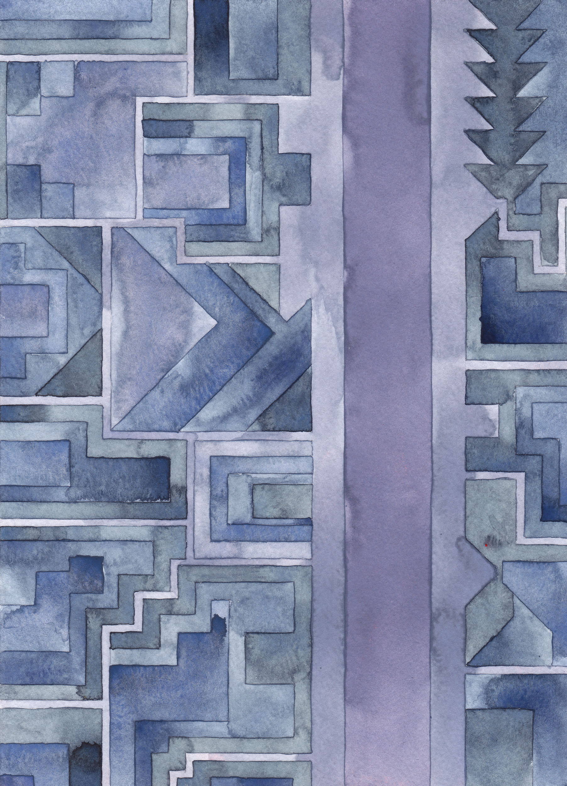 Cityscape 13 , 2014  watercolor on watercolor paper  11.75 x 8.5 inches