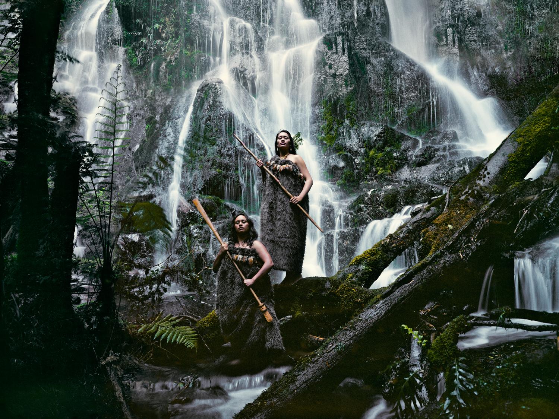 Maori Women at Huka Falls -  JIMMY NELSON,  BEFORE THEY PASS AWAY