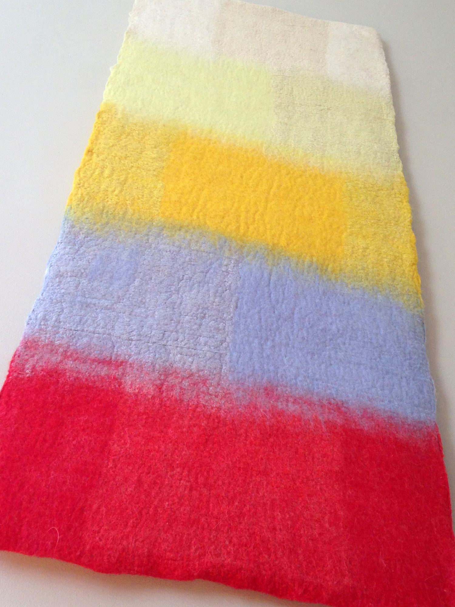 """""""Color Migration: White, Yellow, Periwinkle, Red""""  SOLD"""
