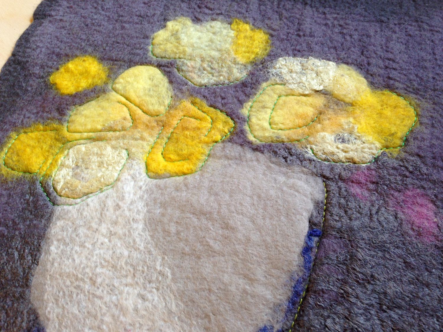 """""""Yellow Floral on Grey"""" (pic 1 of 2)"""