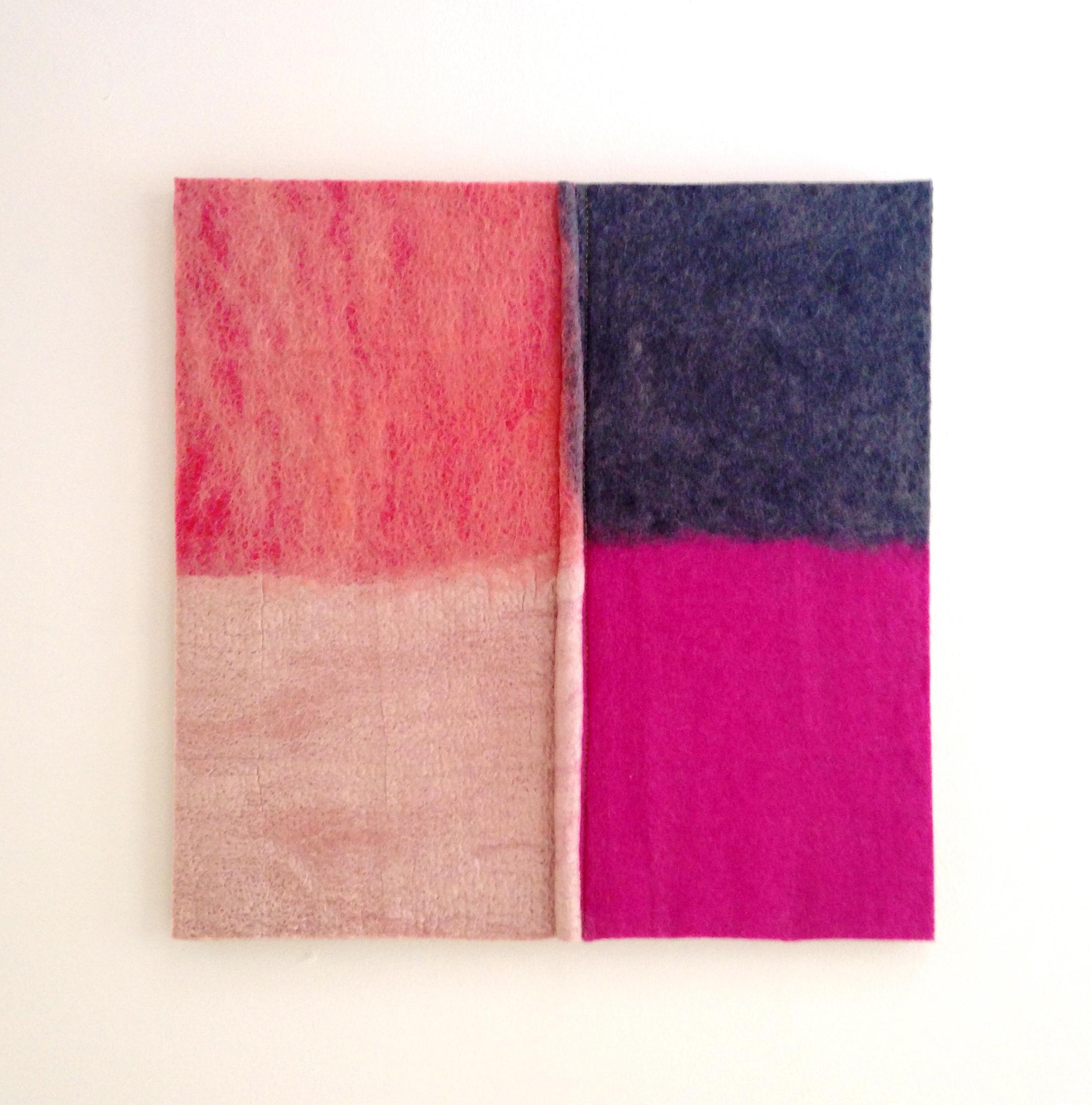 """""""Color Quadrant: Fuschia, Pink, Gray""""  (pic 1 of 2)"""
