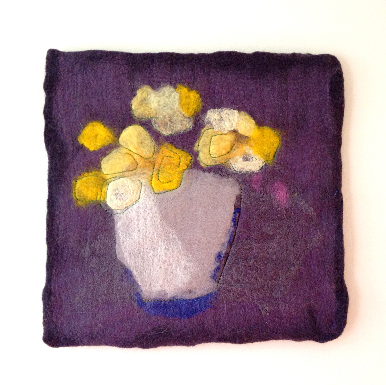 """""""Yellow Floral on Grey"""" (pic 2 of 2)"""