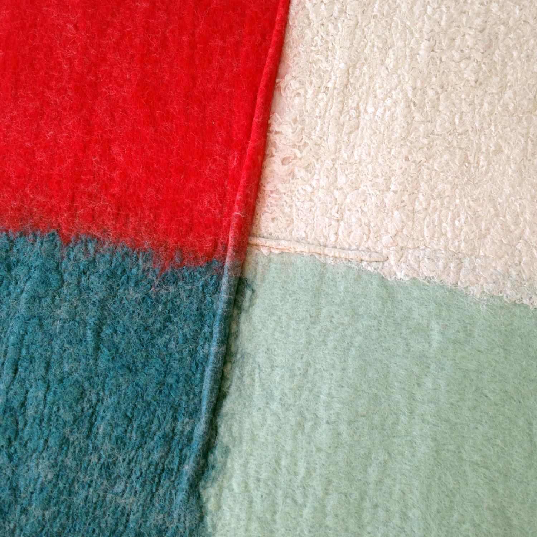 """Color Quadrant: Aqua, Mint, Red, White""  SOLD"