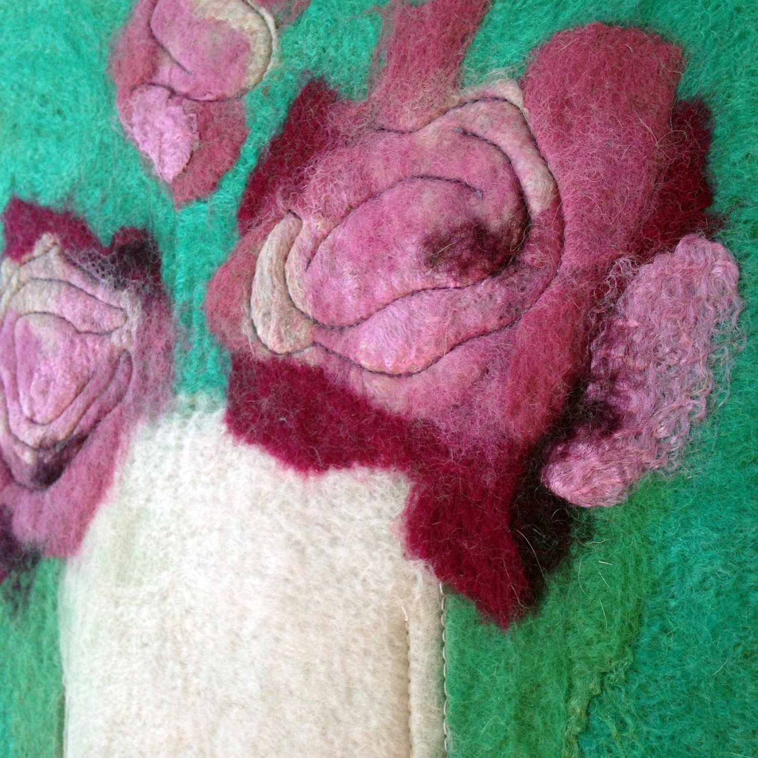 """""""Orchid Floral on Green""""  SOLD"""