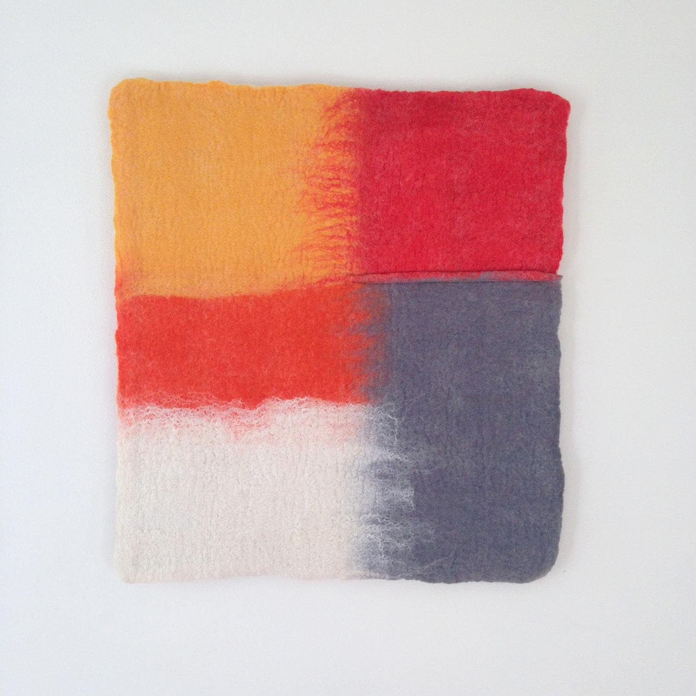 """""""Color Migration: Orange, Red, White, Grey""""  SOLD"""