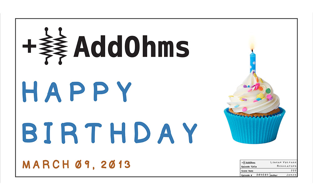 """3 Years ago...   It's hard to believe, but only three years ago I posted the first AddOhms Video. The series had a strange start. I tried four different times until I figured out the """"whiteboard"""" style that AddOhms is famous for today.   It's funny because when I go back to the first four episodes, they are hard for me to watch, but continue to be popular. Regardless, I so appreciate the support of Fans and look forward to where we'll be three years from now!"""