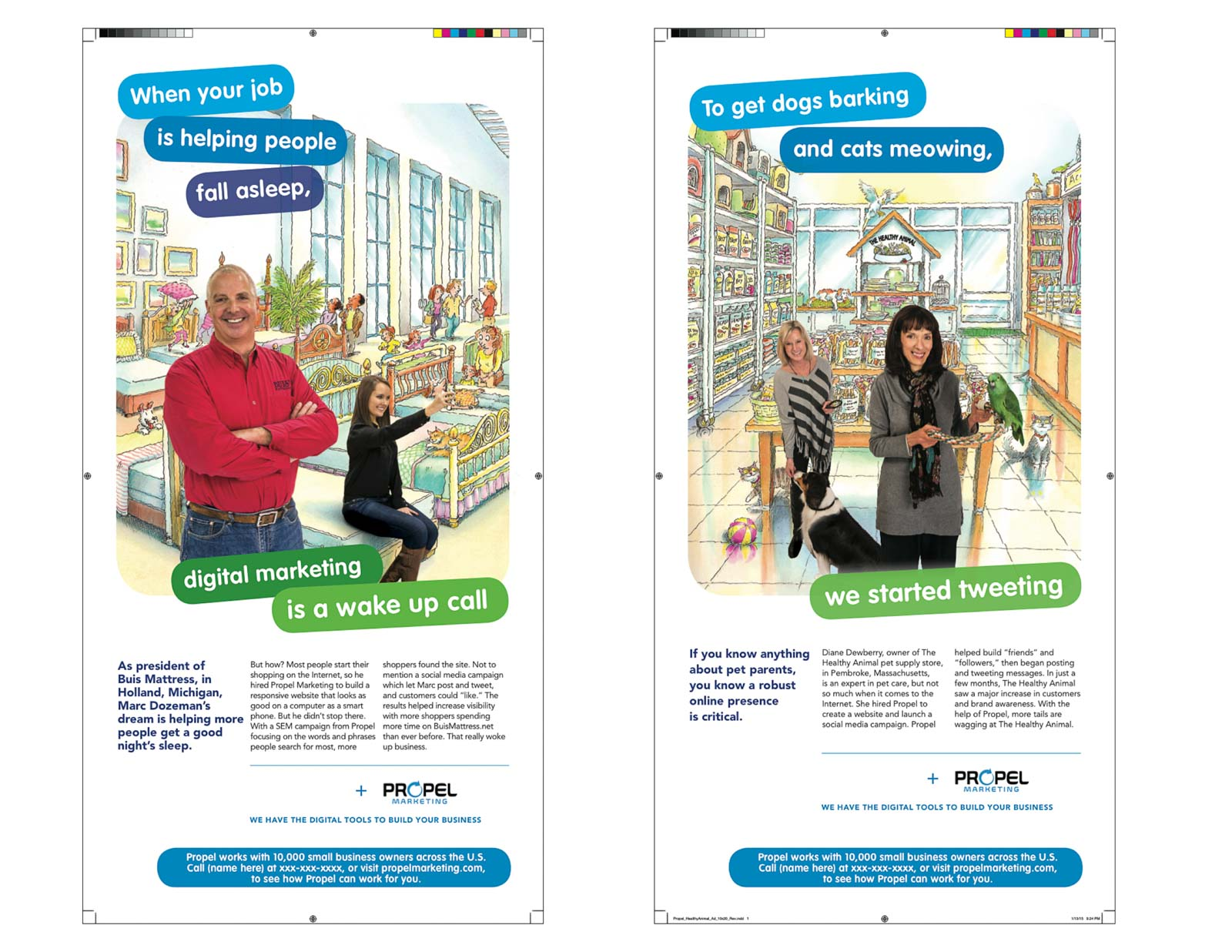 Advertising campaign for Propel Media