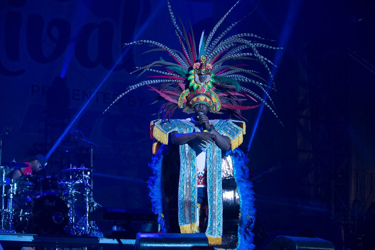 Wycleff Jean at Bahamas Junkanoo Carnival in Nassau, Bahamas