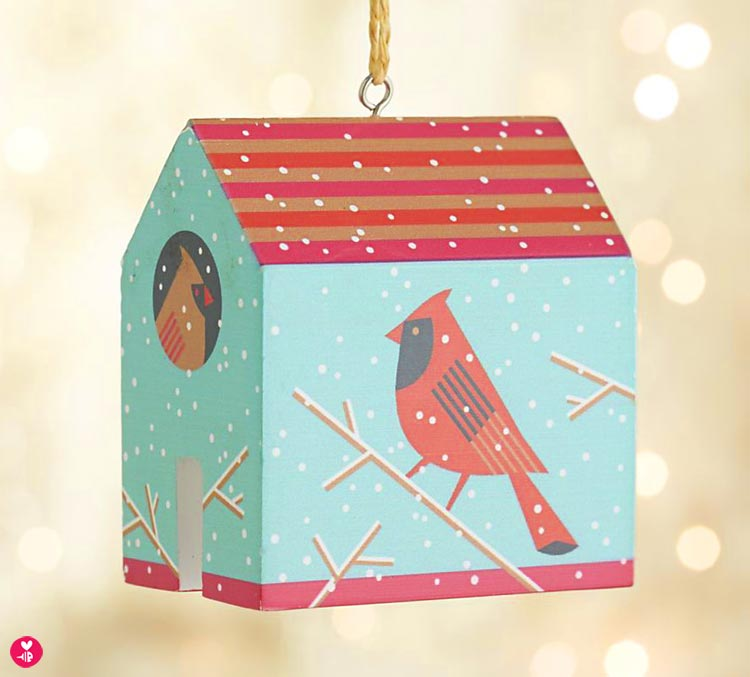 Cardinal house ornament, benefitting Rebuilding Together