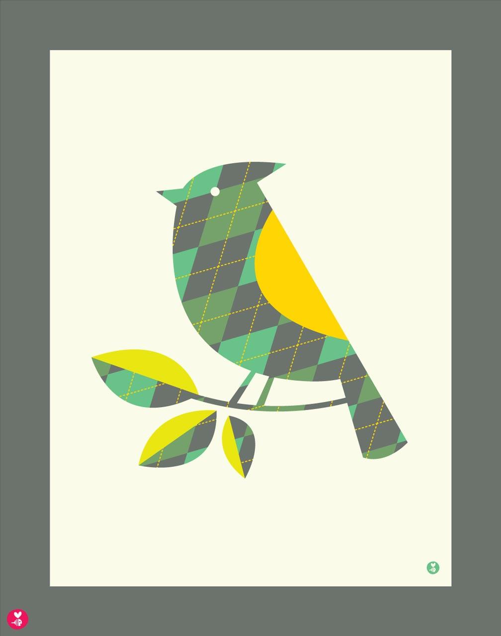 Argyle Blue Jay Limited Edition Print