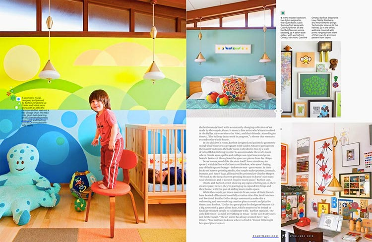 Images and spreads courtesy of ReadyMade Magazine.