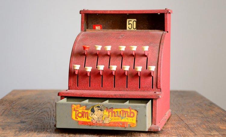 Tom Thumb toy cash register