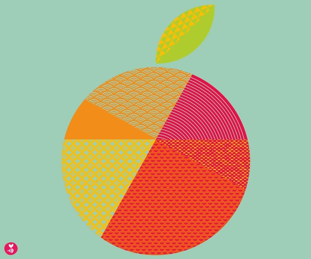 orange screen print