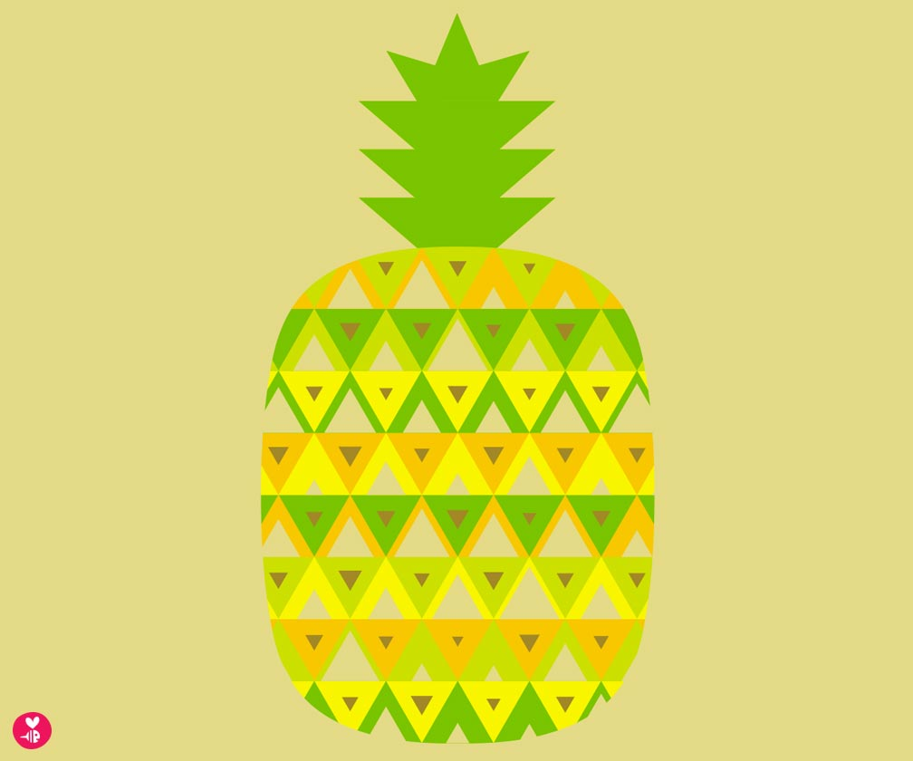 pineapple screen print