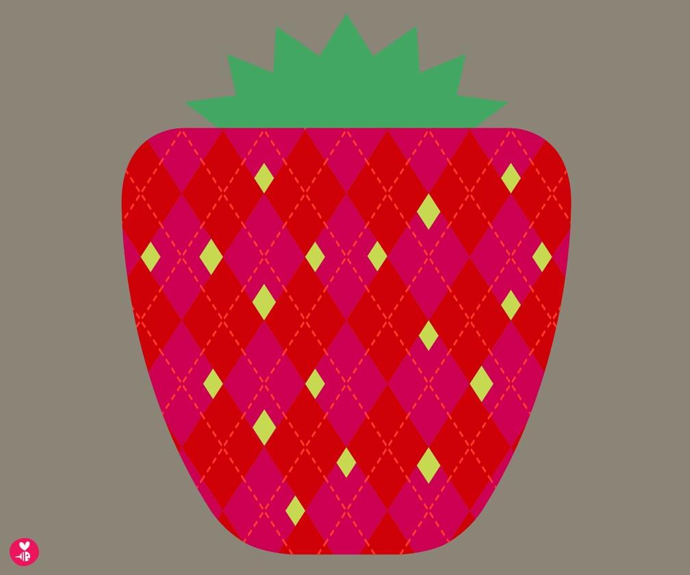 strawberry screen print