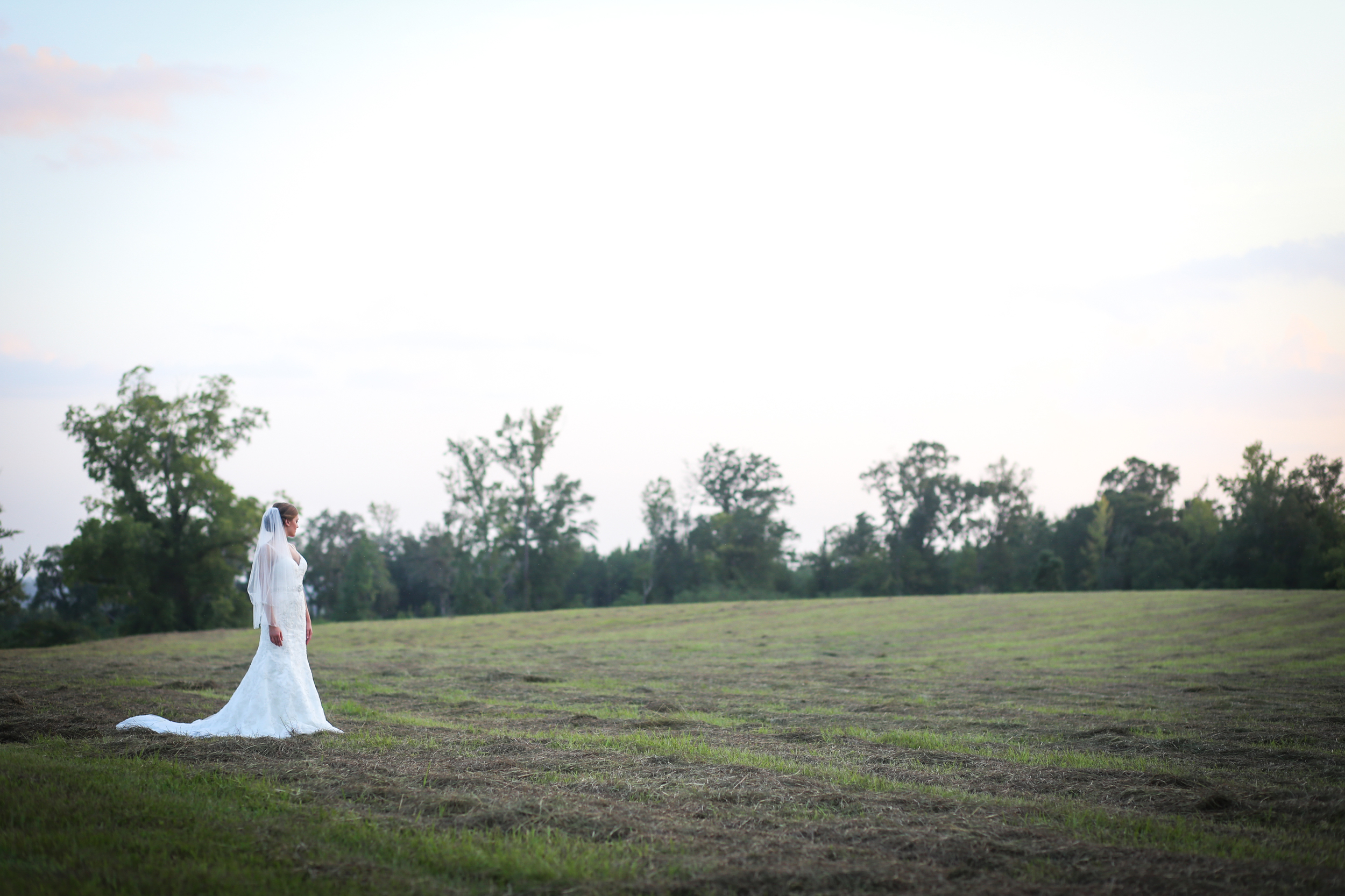Chelsy Smith during her bridal portraits in Camden, Alabama. Photo by Michelle Taulbee Photography