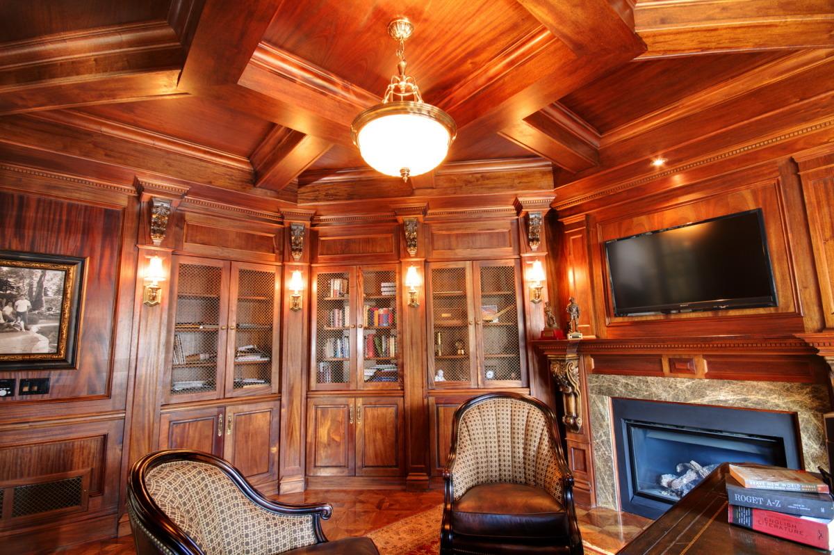 Mahogany office