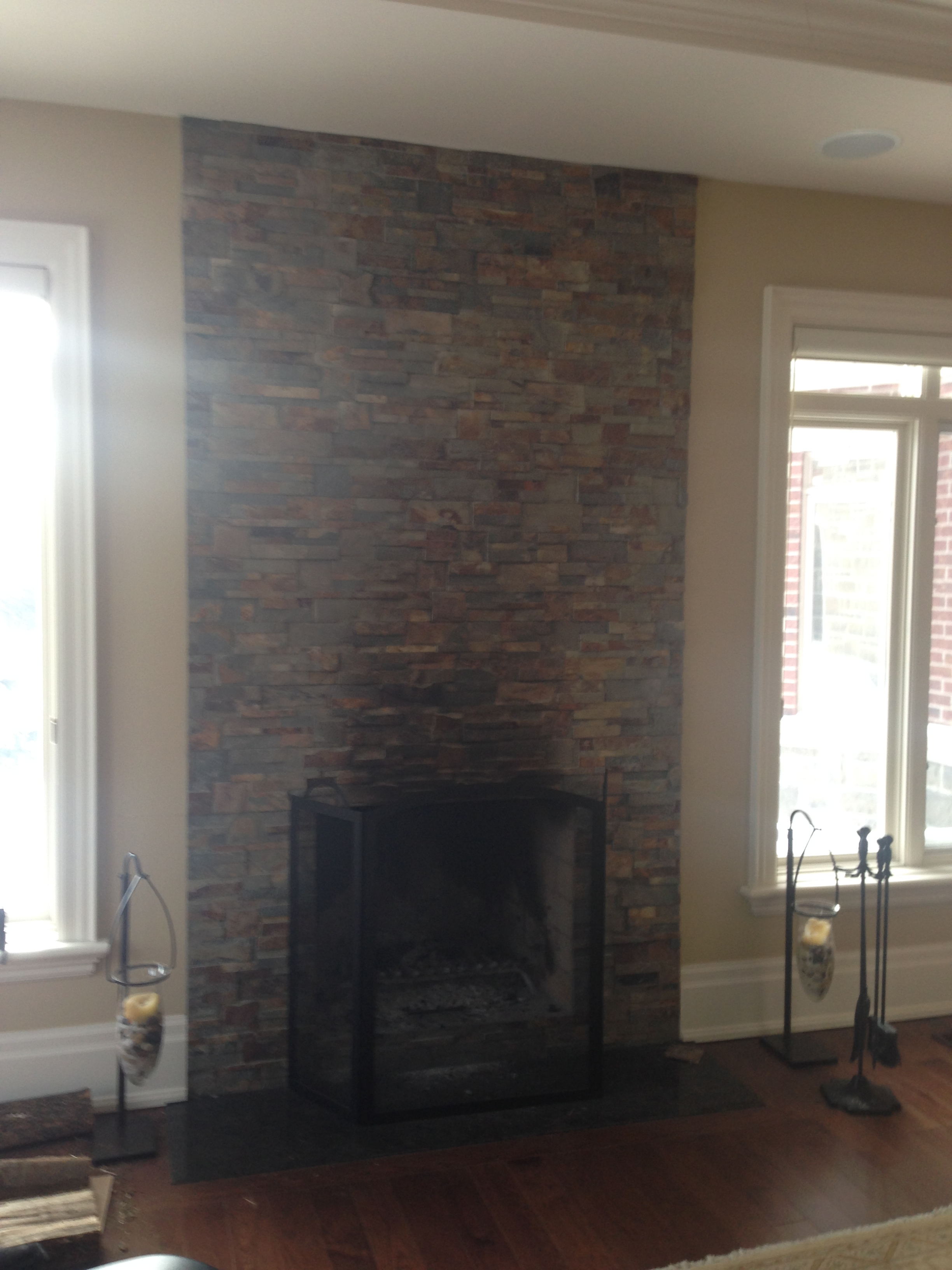 This is the existing fireplace