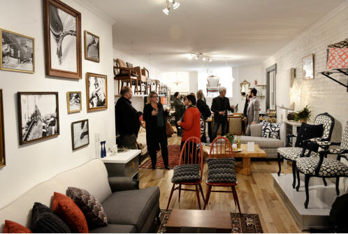The store has a fresh and modern feeling..no creaky floors and musky smells to endure when shopping for your vintage look...