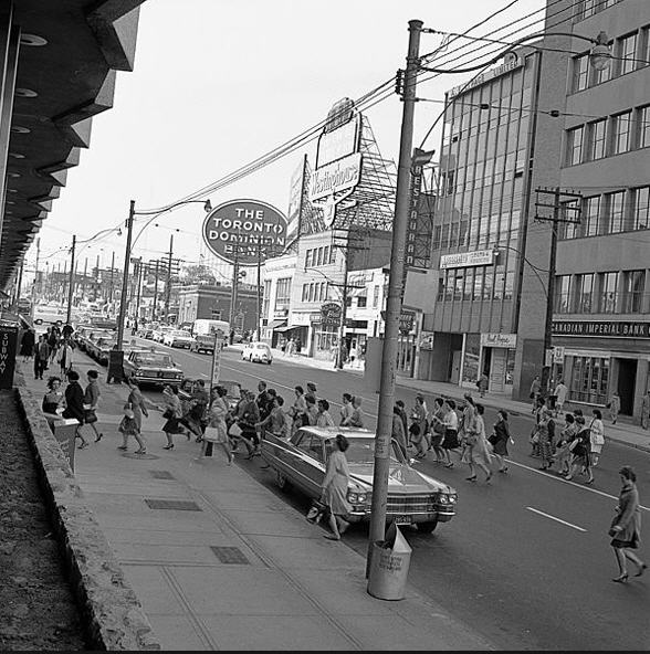 yonge and eglinton 1960's