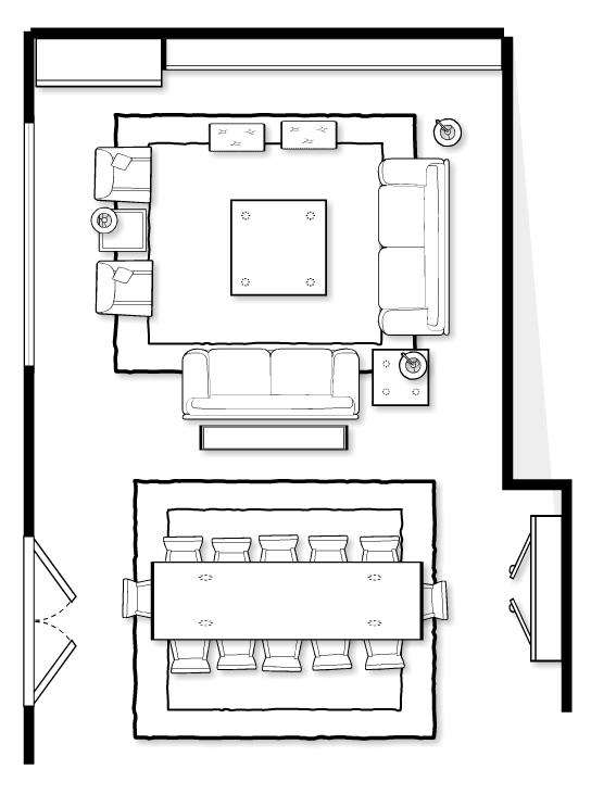This was the floorplan of the furniture we were purchasing for the project.