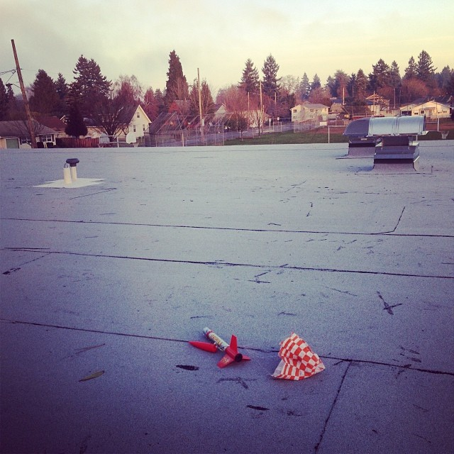 Retrieving a rocket on the school roof... January 16, 2014 at 0539PM.jpg