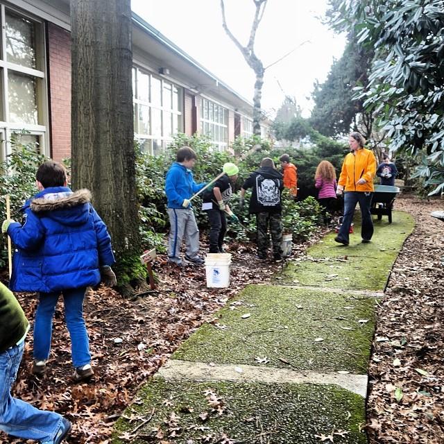 3rd grade students working in the garden....jpg
