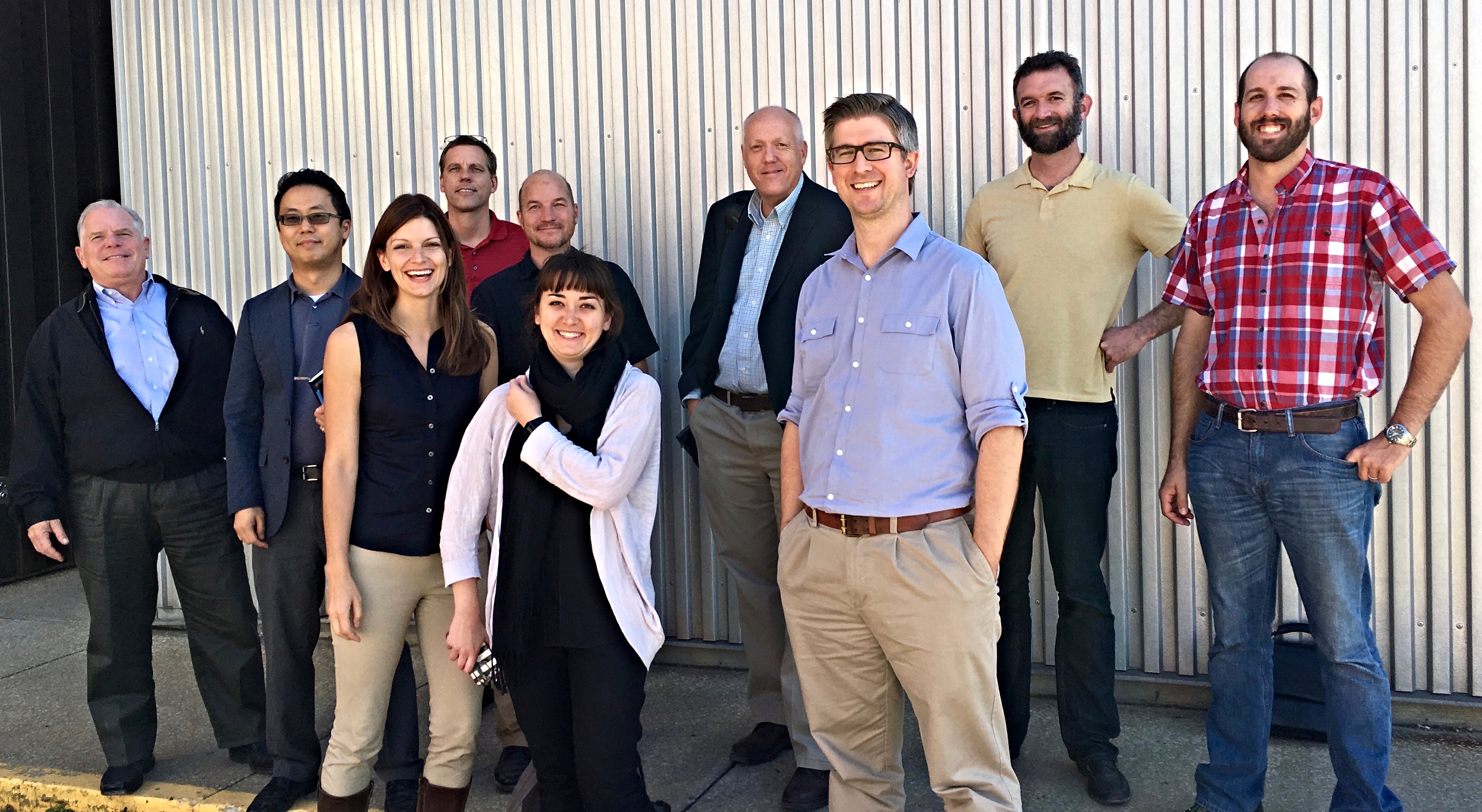 The Inner Arbor Trust and Zahner teams in Kansas City for review of the first full scale mockup of structure's shell