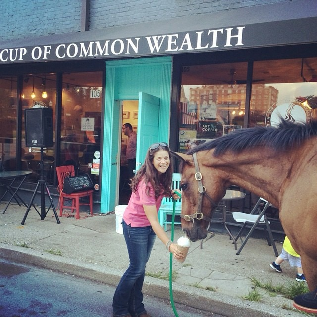 Delia and Whynot - two of our favorite customers (both Iced Mocha lovers)