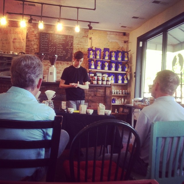 SoProJoeBro leading our first coffee class