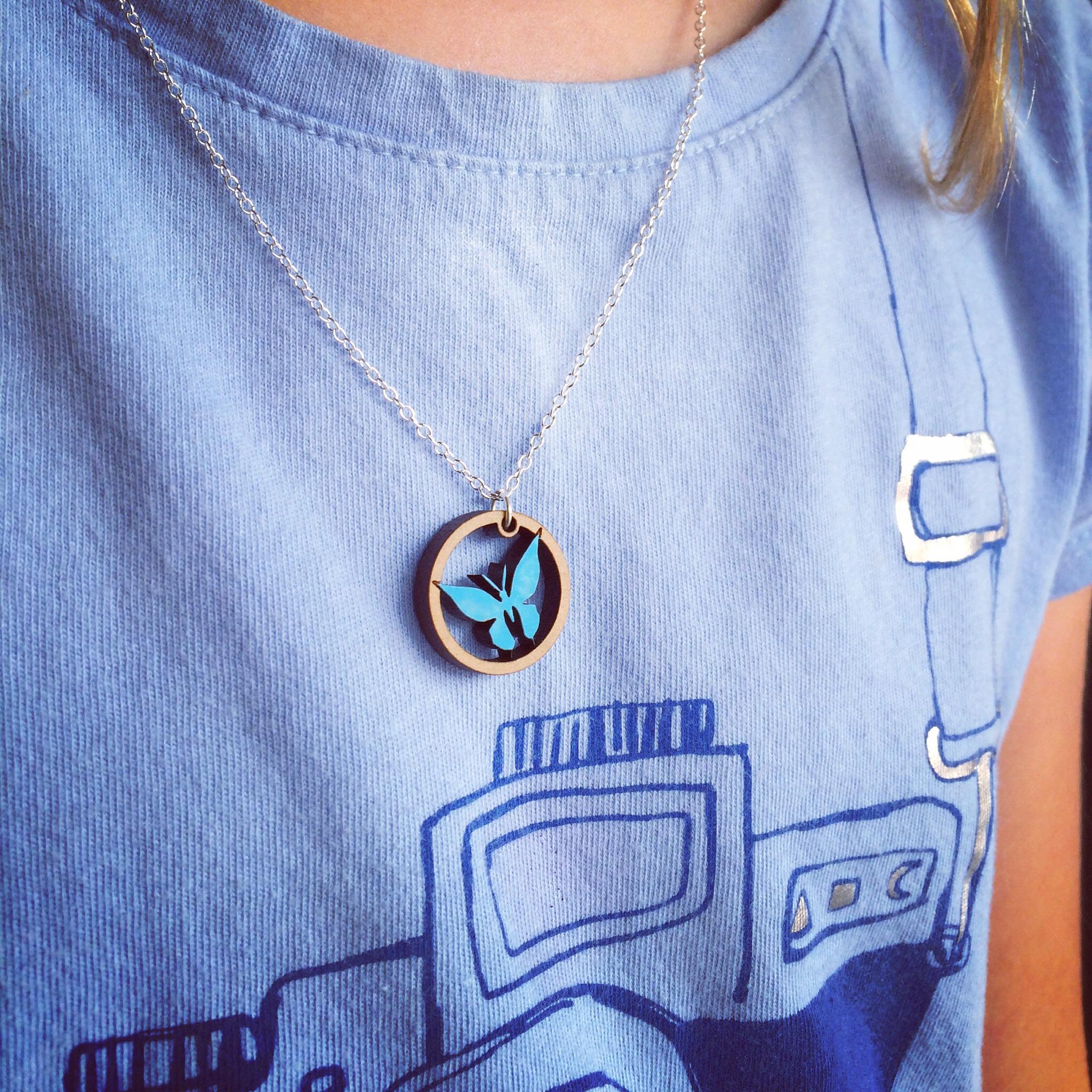 Blue butterfly pendant!