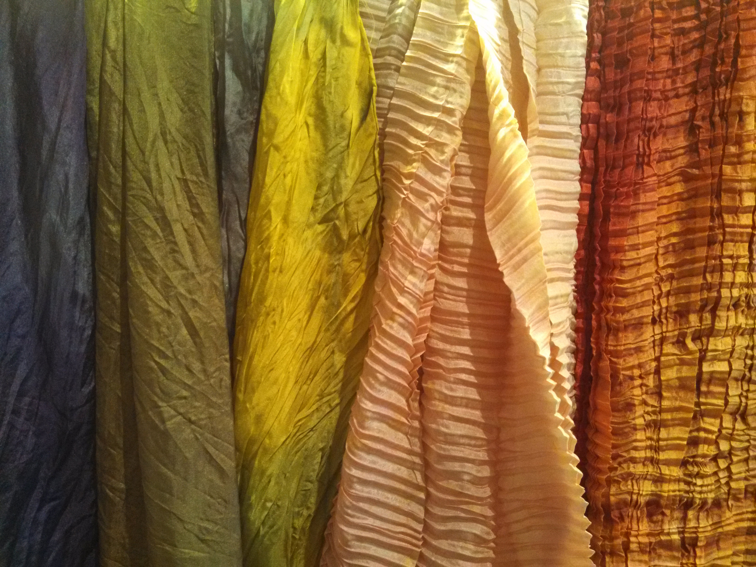 silk hand-dyed scarves