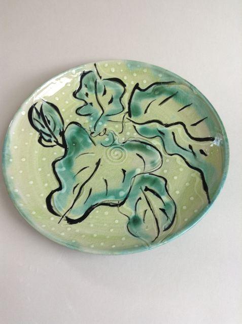 leaf-pattern platter