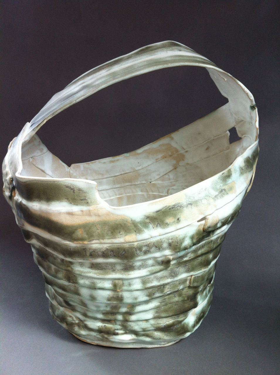 ceramic basket vase