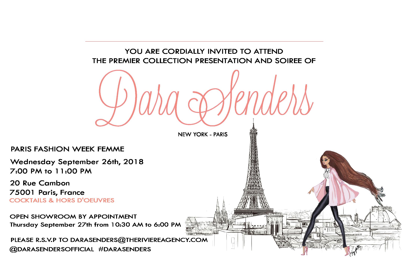 DARA SENDERS - PARIS FASHION WEEK PREMIER & SOIREE    SEPTEMBER 26TH 2018 - 20 RUE CAMBON