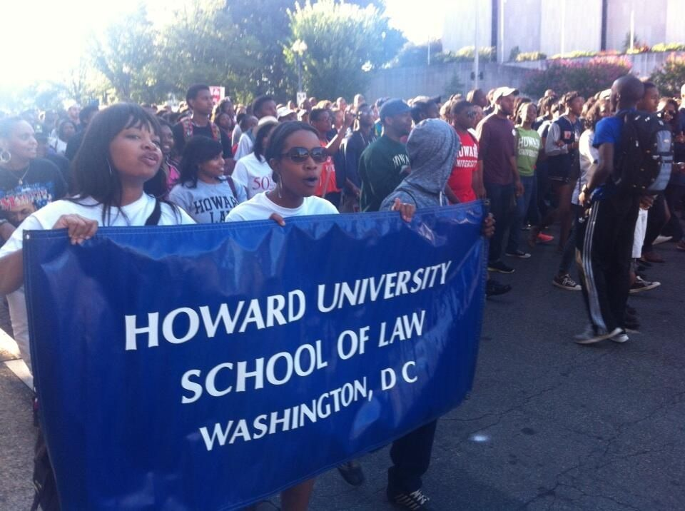The Howard School of Law, marching at the front. 21st century social engineers. We will win!