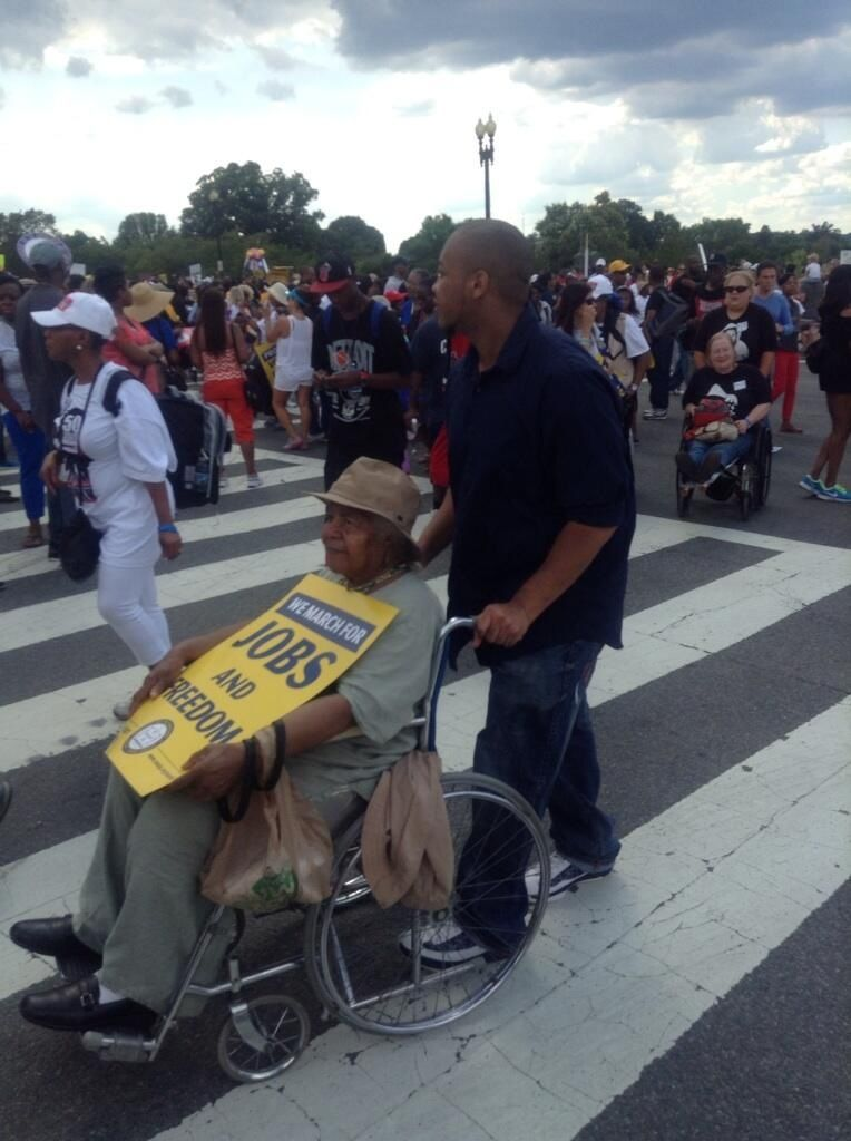 March on Washington: Intergenerational bonds renewed.